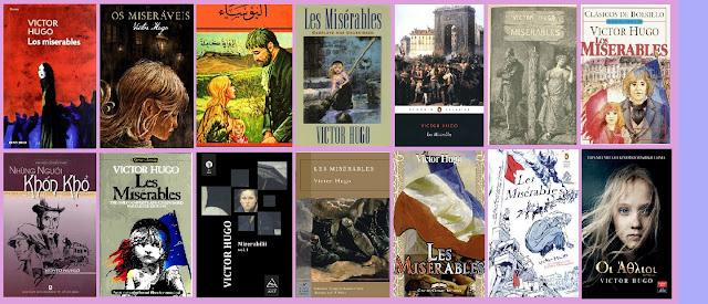 portadas de la novela histórica Los miserables, de Victor Hugo