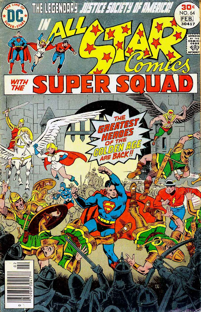 All Star Comics v1 #64 dc bronze age comic book cover art by Wally Wood