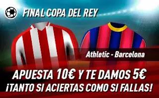 sportium promo copa Athletic vs Barcelona 17-4-2021