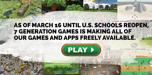 Get free games while US schools are closed, from 7 Generation Games