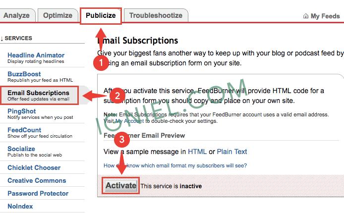 Widget Berlangganan Email Keren di Blogger