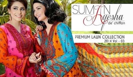 Suman Ayesha Lawn 2014 | Premium Lawn Summer Collection 2014 Vol-03 by Suman Ayesha