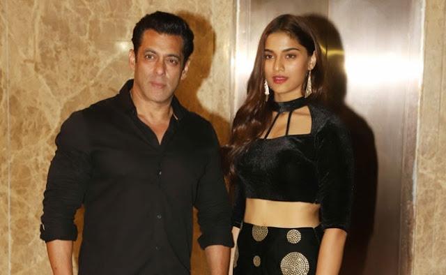 Salman Khan with Saiee M manjrekar