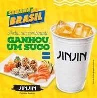 Promoção Jin Jin Semana do Brasil Compre e Ganhe Suco