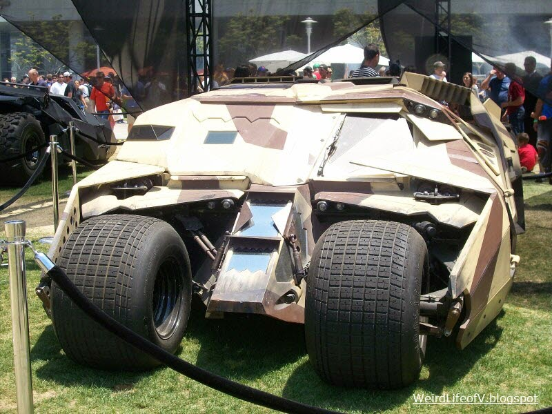 Replica Camouflage Tumbler  Batmobile on display behind the San Diego Convention Center during San Diego Comic Con 2012