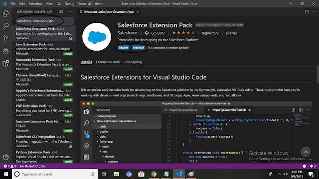 how to set up visual studio code for salesforce
