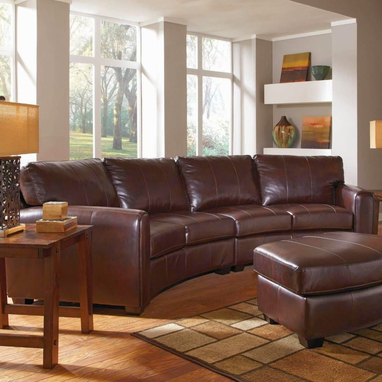 Curved sofa curved leather sofa for Curved leather sectional sofa uk