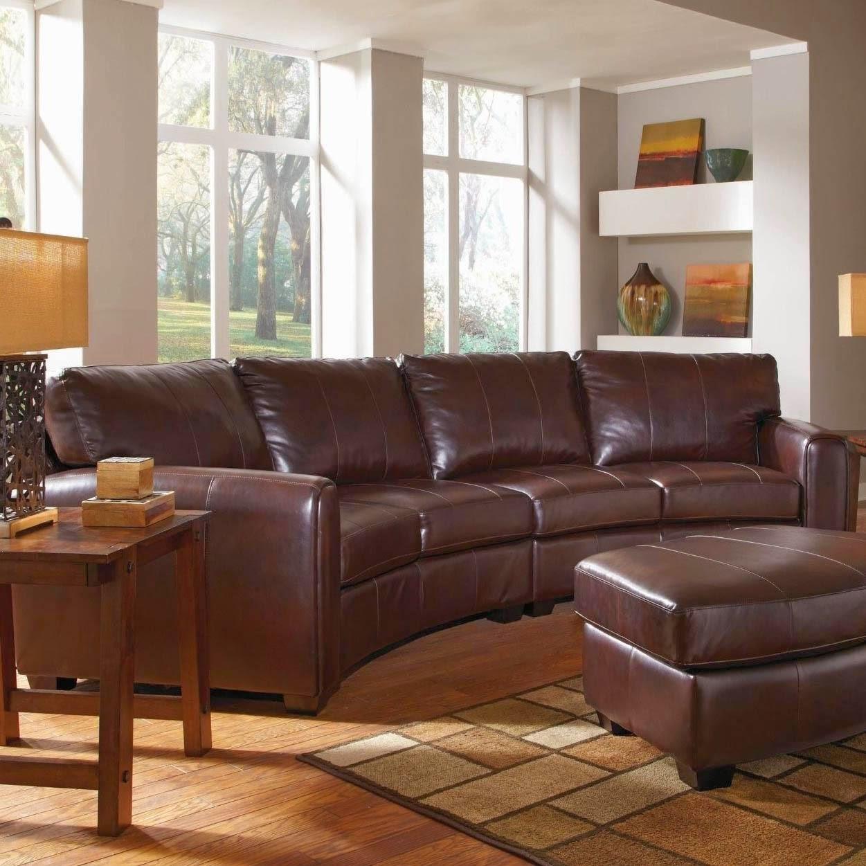 curved sofa: curved leather sofa