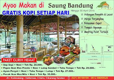 Brosur Restaurant Saung Bandung