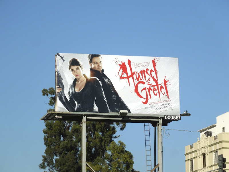 Hansel & Gretel Witch Hunters movie billboard