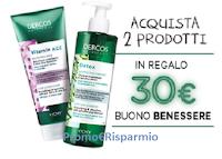 Logo Dercos : buono benessere da 30€ come regalo certo