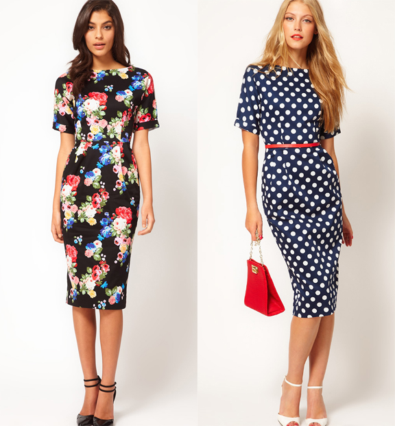 220 Ber Chic For Cheap Spied Asos Floral Wiggle Dress