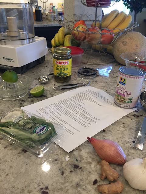 Ingredients for Livliga Asian-style chicken marinade