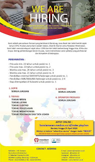Lowongan Kerja PT Medion Farma Jaya 2020