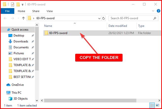 copy the folder