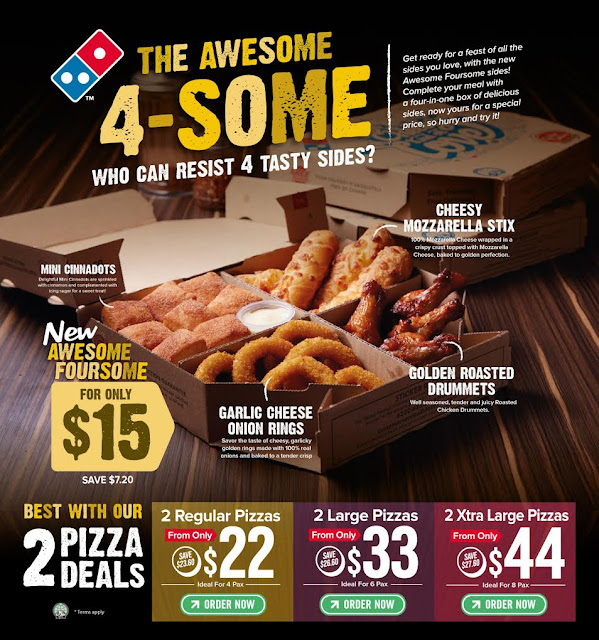 Domino's Singapore New Awesome 4-Some!