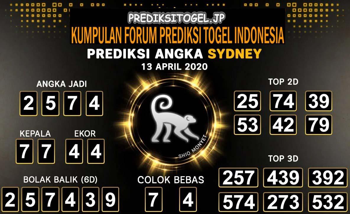 Prediksi Sidney Senin 13 April 2020 - Prediksi Togel JP