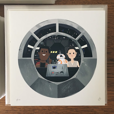 San Diego Comic-Con 2017 Exclusive Star Wars Prints by Chris Lee & The Beast Is Back