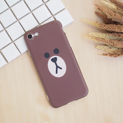 casing gambar Brown LINE
