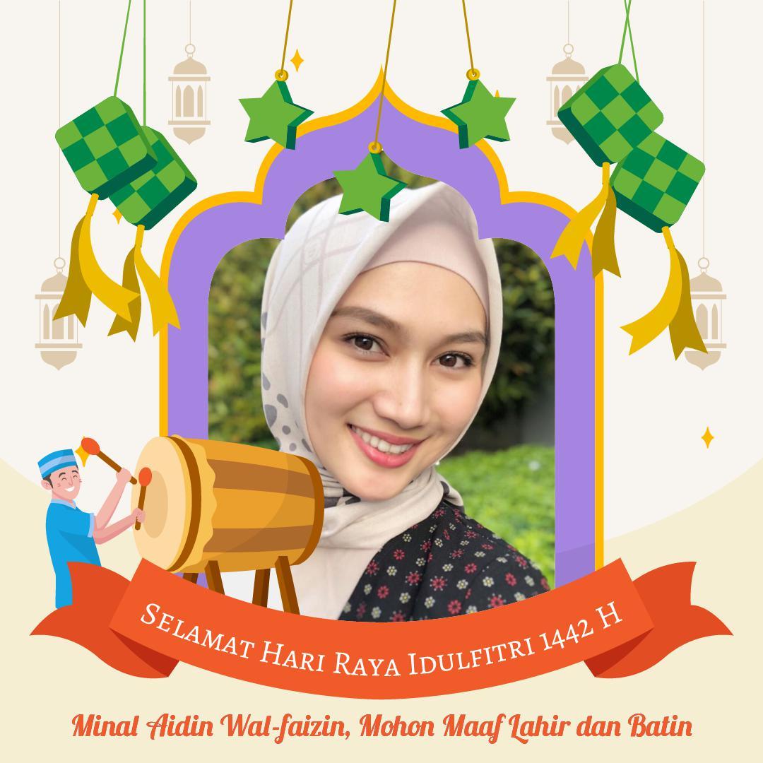 Twibbon Selamat Hari Raya Idul Fitri 1442 H - Melody Laksani