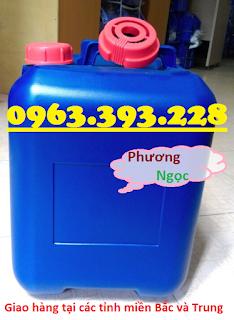 Can nhựa HDPE vuông, can nhựa 20L màu xanh, can đựng hóa chất 20 Lít 35c6787fcaba28e471ab