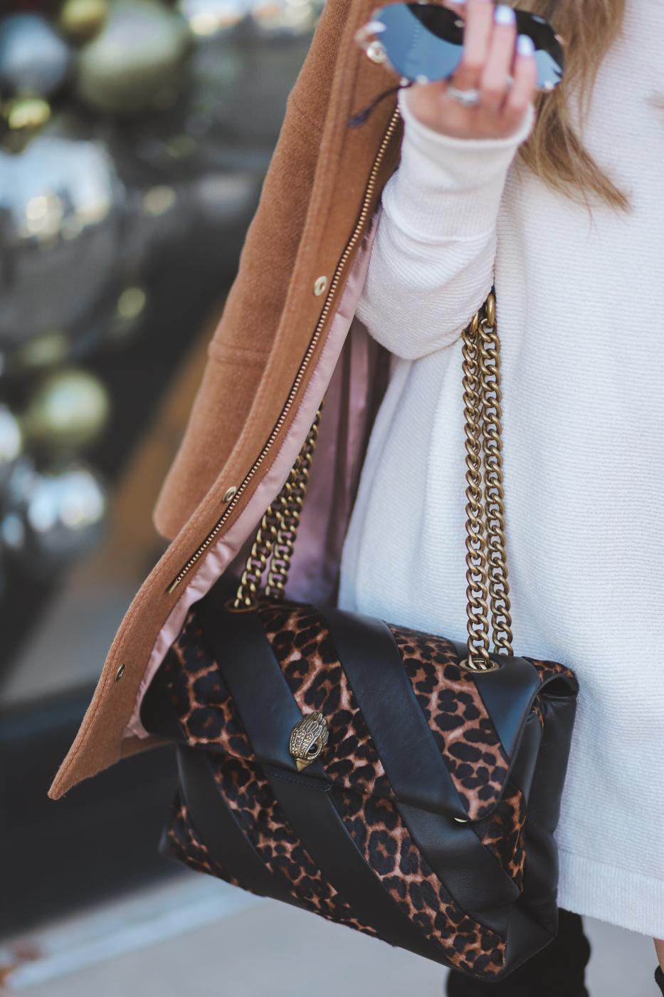 nordstrom kurt geiger leopard shoulder bag