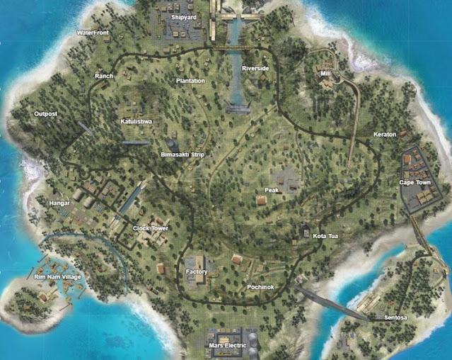 خريطة برمودا Bermuda في فري فاير