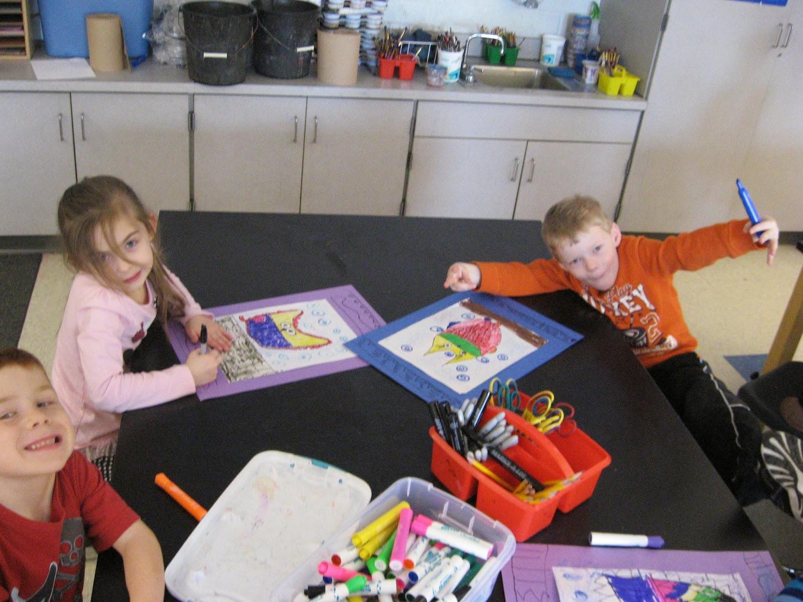 Jamestown Elementary Art Blog Kindergarten Patterned Owls