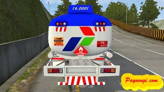 mod bussid nissan pk260 tangki pertamina