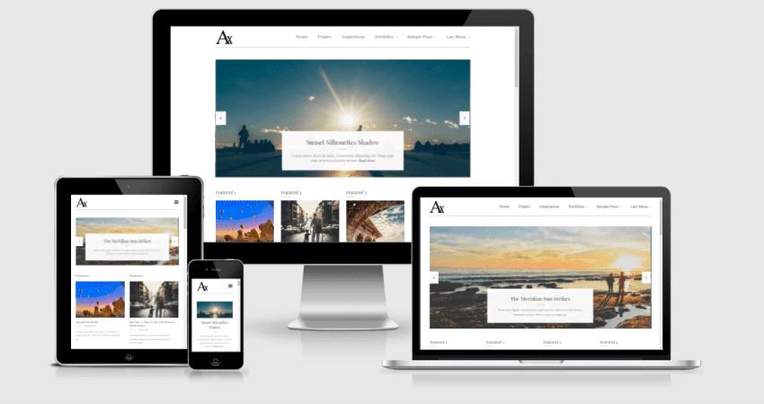 a responsive blogger template