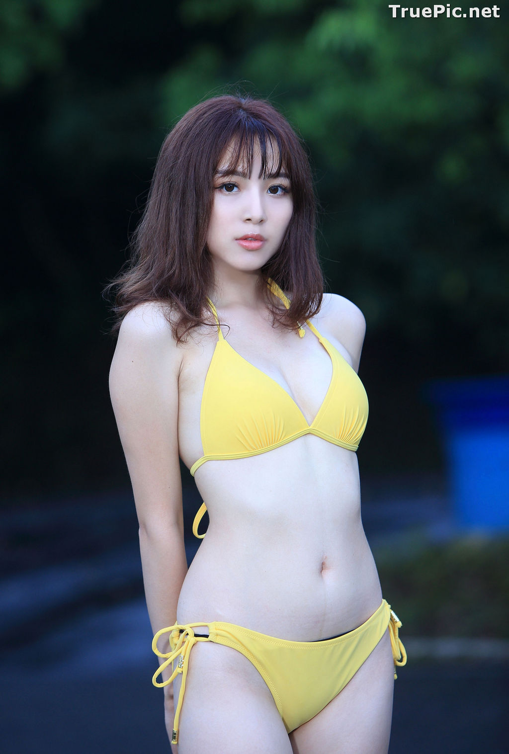Image Taiwanese Model - Ash Ley - Yellow Bikini at Taipei Water Museum - TruePic.net - Picture-8