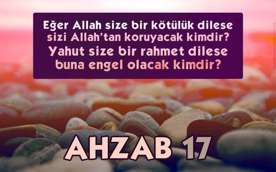 Ahzab Sûresi 17. Âyet