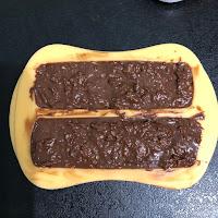 Barres de céréales au Nutella sans cuisson dans leur moule avant prise au froid