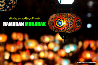 wishing you a happy ramadan Ramadan mubarak  colourful ramadan lanterns sparkling background