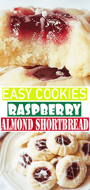 #RASPBERRY #ALMOND #SHORTBREAD #COOKIES