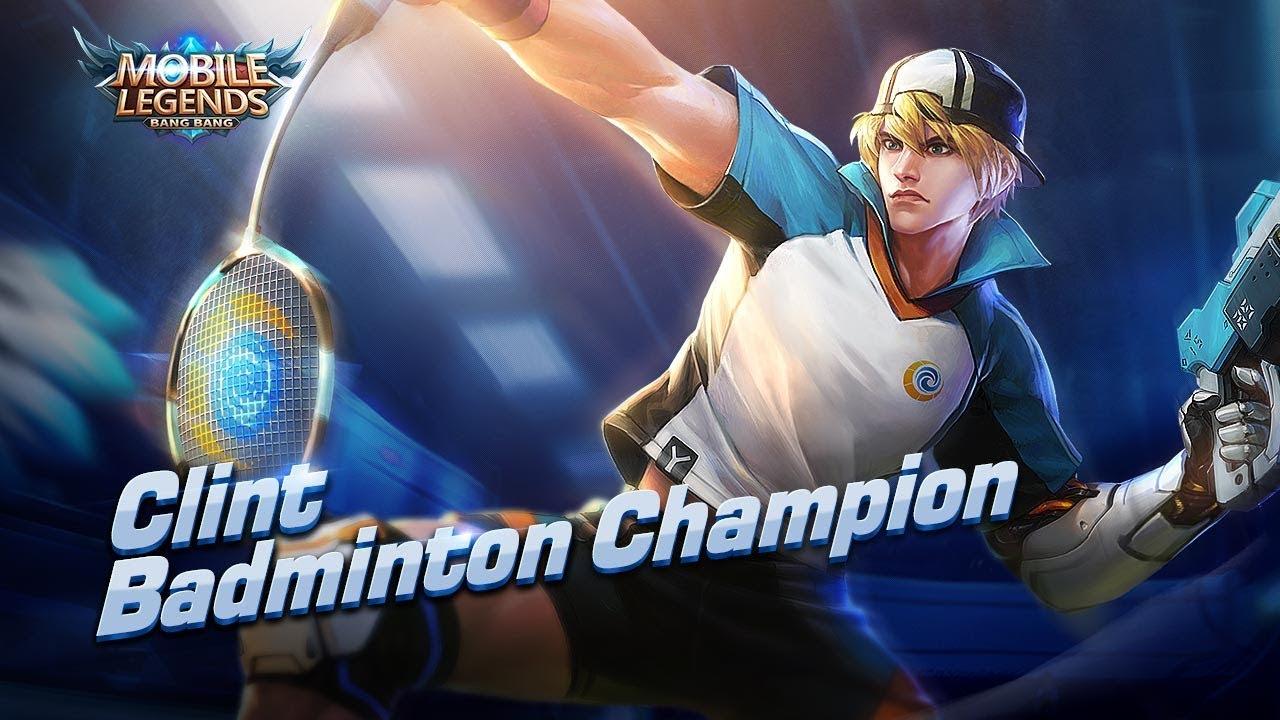 Wallpaper Clint Badminton Champion Skin Mobile Legends HD for PC