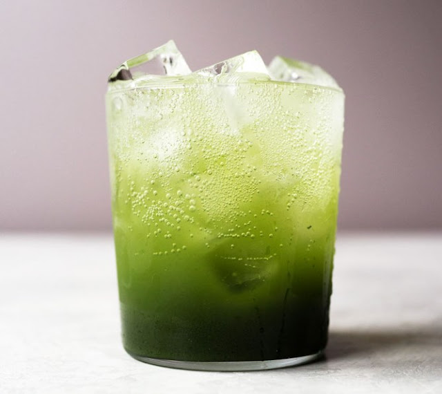 Matcha (Green Tea) Soda #drinks #recipe