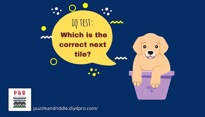 IQ Test: Which is the Correct Next Tile?