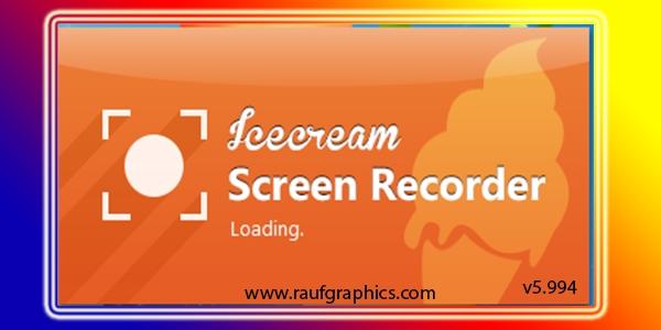 Icecream Screen Recorder Pro v5.994 latest Download
