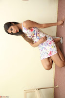 Nishi Ganda stunning cute in Flower Print short dress at Tick Tack Movie Press Meet March 2017 080.JPG
