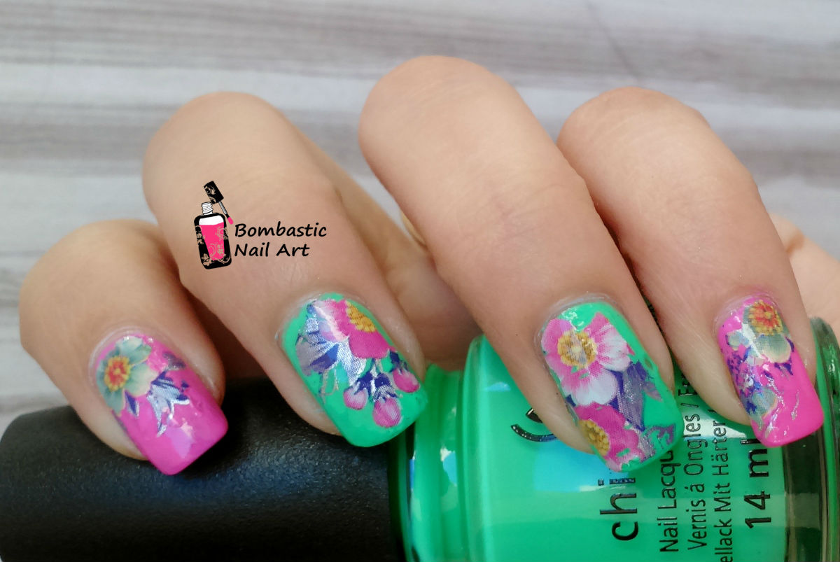 Flower Nail Art with Printed Transfer Foils – Bombastic Nail Art