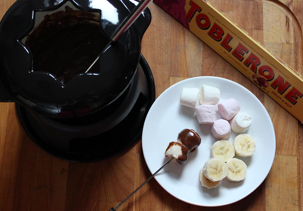 Toblerone Custard Fondue