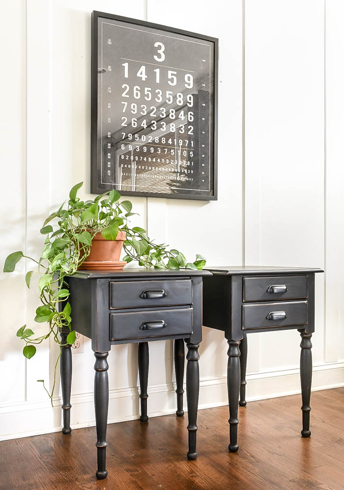 Modern painted drop leaf tables