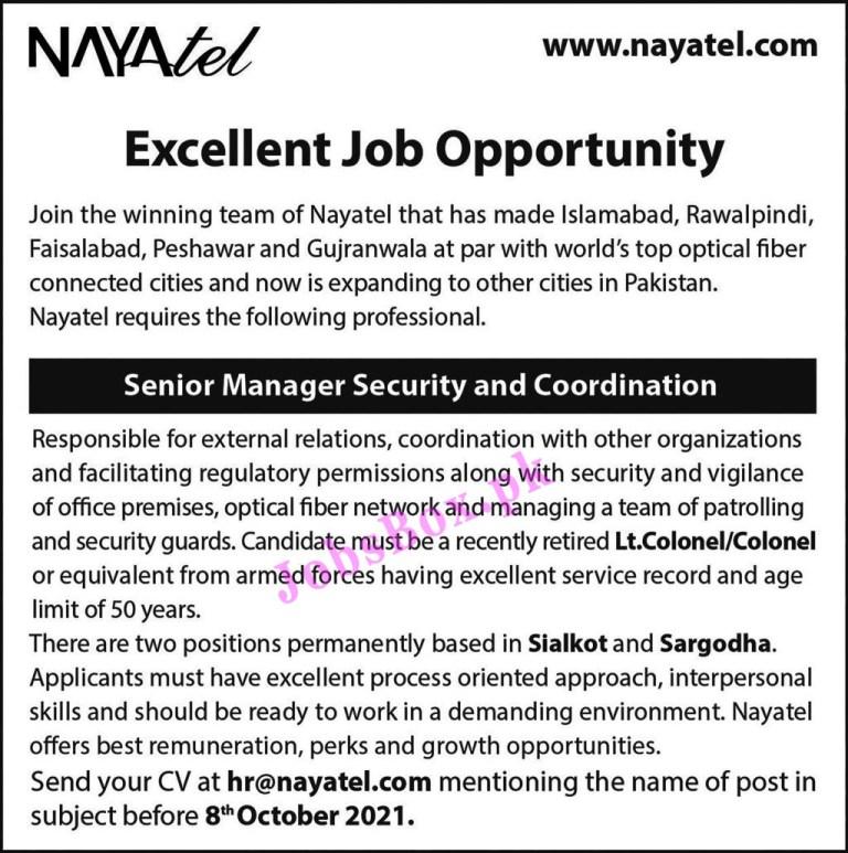 www.nayatel.com - Nayatel Jobs 2021 in Pakistan