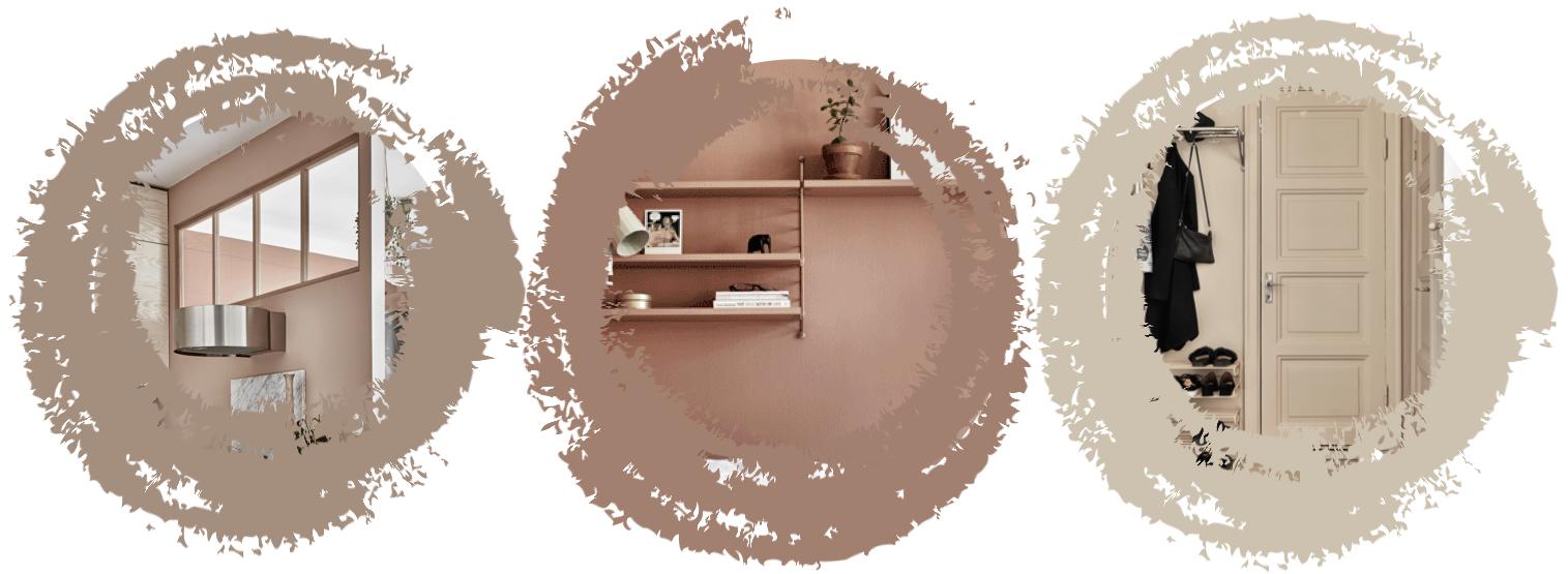 ilaria fatone about a minimal Swedish interior in blush tones