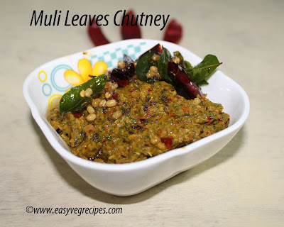 Mullangi Leaves Pachadi Recipe