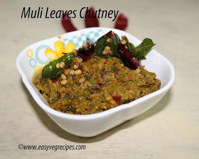 Mullangi Leaves Pachadi Recipe