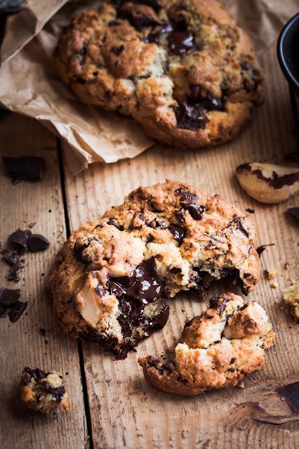 Cookies américains au chocolat et noix du Brésil