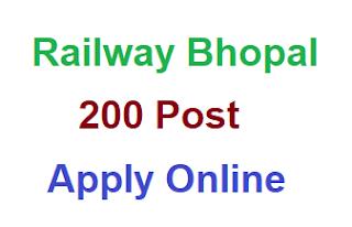 Railway Bhopal (WCR) Apprentice Online Form 2020, Qualification, Syllabus,
