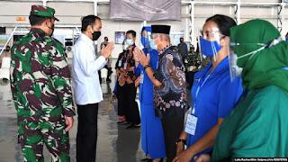 Jokowi Janji Bangun Rumah untuk Keluarga Awak KRI Nanggala
